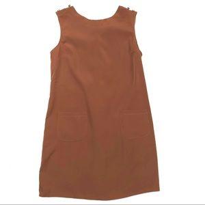 Wallis 14 Above Knee Sleeveless Dress Pockets Zip